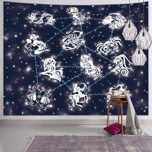 Psychedelic Zodiac Constellation Tapestry MilkyWay